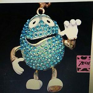 Betsey Johnson Mr.  Blue m & m necklace